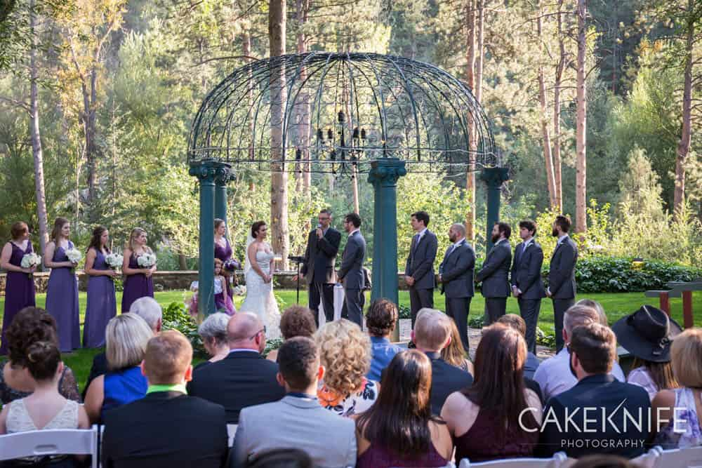 Colorado outdoor wedding at the Dunafon Castle